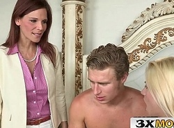 Sex-mad Syren Demer Blackmails Stepson and His Girlfriend Jessie Volt into 3Some