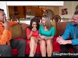 Several Dad'_s Agree To Be wild about Each Others Sexy Legal age teenager Daughters - DaughterSwapHD.com