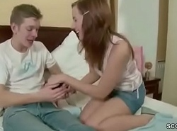 18yr old Step-Sister Inveigle to Be captivated by added to Facial cumshot by Step-Bro