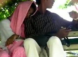 Pak paramours cook jerking coupled with fingering in public