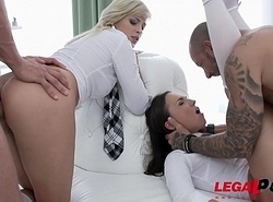 Ria Sunn &amp_ Kristy Black anal &amp_ Double penetration Fourway for Legal Porn SZ1396
