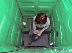 Porta Gloryhole teen swallows cum winning pedestrian way