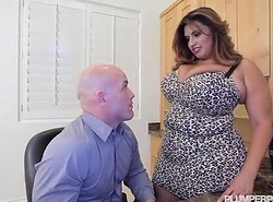 Busty Latin chick MILF Sofia In top form Copulates Her CoWorker Derrick