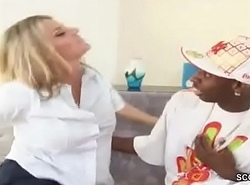 MILF Matriarch Inveigle Black Friend be useful to Son to drill their way