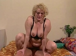 Granny gets her Victorian bawdy cleft dildoed coupled with drilled
