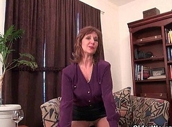 Granny Claire fucks yourself nearby a dildo