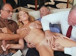 Fair-haired Teen Raylin Ann Taking On Two Old Living souls Customer acceptance wanted