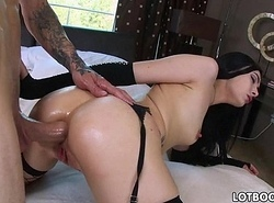 Succulent nuisance brunette Marley Brinx acquires assfuck fuck be proper of money