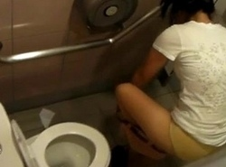Asian legal age teenager toilet