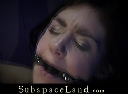 Ball ball-gagged depending takes pussy satanic divertissement alongside silence